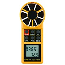 Reed 8906 Digital Vane Thermo-Anemometer, 0.4 to 35 m/s Velocity, -10 to +50° C Temperature Range