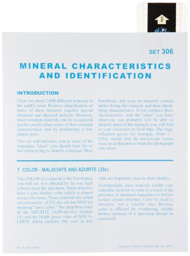 American Educational Microslide Mineral Characteristics and Identification Lesson Plan Set - 1