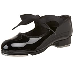 Capezio Youth Tyette Tap Shoe, Patent-7.5 M Tod