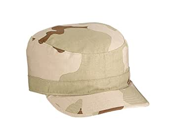 Tri-Color Desert Camouflage Military Fatigue Cap (Polyester/Cotton Rip-Stop) 9480 Size Large