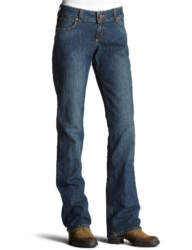 Wrangler Juniors' Premium Patch Low Rise Boot Cut Jean
