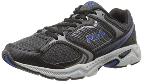 Fila Men's Interstellar 2 Running Shoe,Castlerock/Black/Prince Blue,9.5 M US
