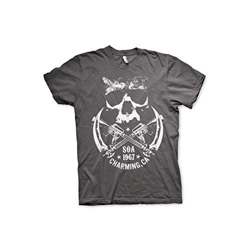 Sons of Anarchy -  T-shirt - Maniche corte  - Uomo grigio scuro XX-Large