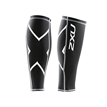 2XU Non-Stirrup Compression Calf Guard (Black, X-Large)