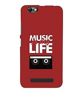 Music Is My Life 3D Hard Polycarbonate Designer Back Case Cover for Lenovo Vibe C