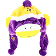 NFL Minnesota Vikings Sock Monkey Hat by Forever Collectibles