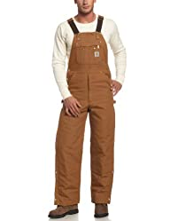 Carhartt Men's Quilt Lined Zip To Thigh Bib Overalls