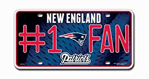 New England Patriots NFL License Plate #1 Fan