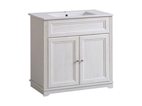 lavabo PALACA BIANCO CON LAVANDINO 60/80cm - bianco, 80 cm
