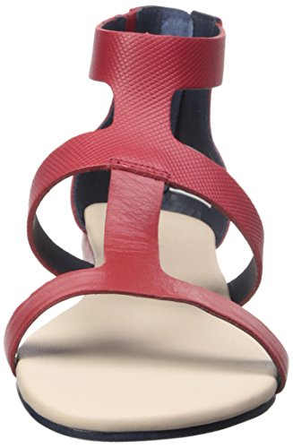 Lacoste Women's Atalaye 116 1 Gladiator Sandal, Dark Red, 8 M US