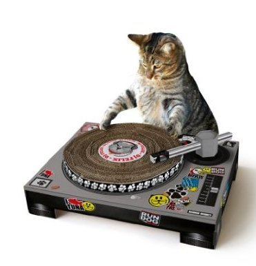 Pet Cat DJ Scratching Deck (by Suck UK), best cat scratching post, dj decks cat scratching post Supply Store/Shop