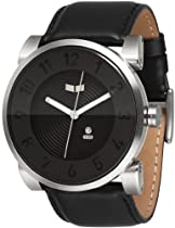 Vestal Doppler Slim Watch - black/brushed black/black, medium wrist