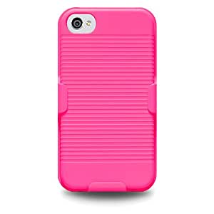 Amzer 94126 Shellster - Neon Pink for iPhone 4S, iPhone 4