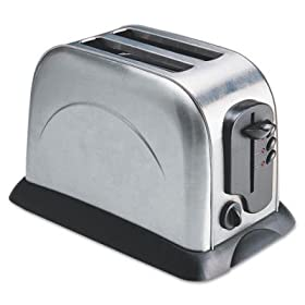 Coffee Pro 2-Slice Toaster with Adjustable Slot Width, Stainless Steel (OG8073)