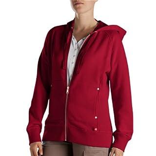 Dickies Women's Zip Hoodie, Red, Large