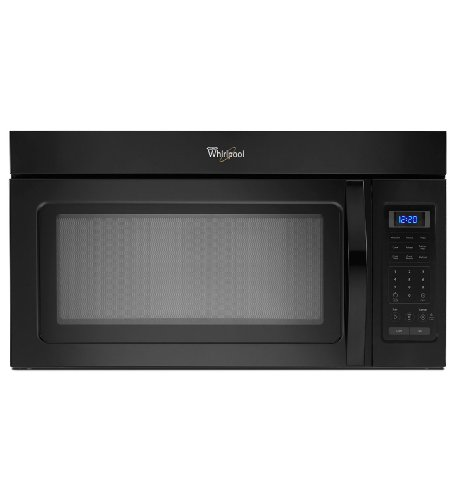Buy Discount Whirlpool WMH31017AB 1.7 Cu. Ft. Black Over-the-Range Microwave