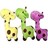 Combo Of Giraffe Soft Toy (Yellow, Purpel And Green)