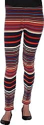 BONNE VIE Women's Cotton & Lycra Leggings (LgB_M, Multi-Coloured, M)