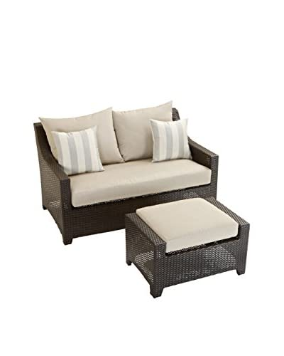 RST Brands Deco Loveseat and Ottoman Set, Grey