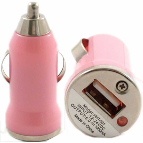 USB In Car Charger For Samsung Rex 60 C3312R / Baby Pink