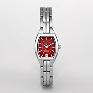 MLB Fossil Arizona Diamondbacks Ladies Stainless Steel Cushion Watch by Fossil