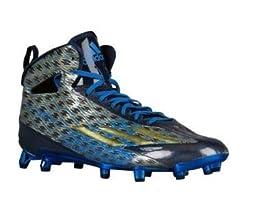 adidas adiZero 5-Star 4.0 Mid Football Cleats (Collegiate Navy/Gold Metallic/Bright Royal - Size 9.5)