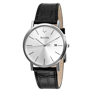 Bulova Men's 96B104 Strap Silver Dial Watch by Bulova