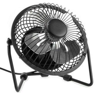 Mini ventilateur de bureau connexion usb pour pc mac brise rafraichissante noir - Mini ventilateur de bureau ...