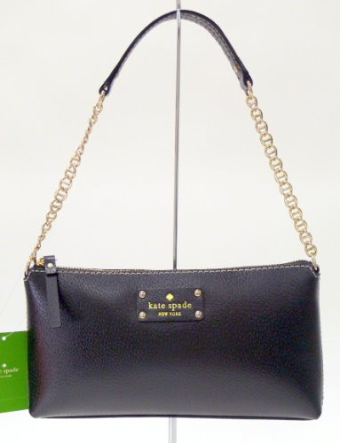 Kate Spade Wellesley Byrd Black Leather Cross-Body Bag front-293960