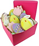 Cookie Cards - Assorted Decorated Easter Sugar Cookies - Comes in sizes of a half-dozen or 1 dozen - Comes Packaged in a Decorative Gift Box (1/2 Dozen)