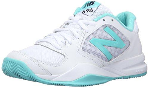 New Balance Women's 696v2 Tennis Shoe, Teal/White, 10 B US