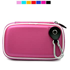 Durable Water Resistant Case for Garmin 4.3 Inch GPS 260w 255w 265w 205w 1690 (Metallic Pink)
