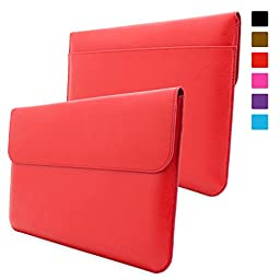 Surface 3 Case, Snugg™ - Leather Sleeve Case with Lifetime Guarantee (Red) for Microsoft Surface 3
