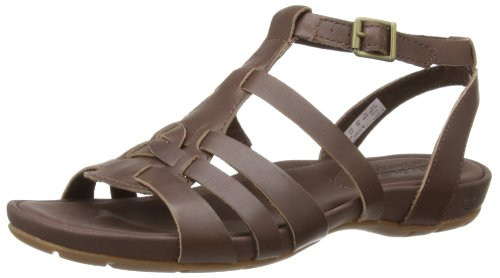 Timberland Womens EK Pleasant Bay Ankle Strap Fashion Sandals C8052A Dark Brown 3.5 UK, 36 EU, Wide