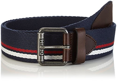 Tommy Hilfiger Denim - Striped Webbing Belt 6, Cintura da uomo, Blau (NAVY BLAZER-PT 416), 95