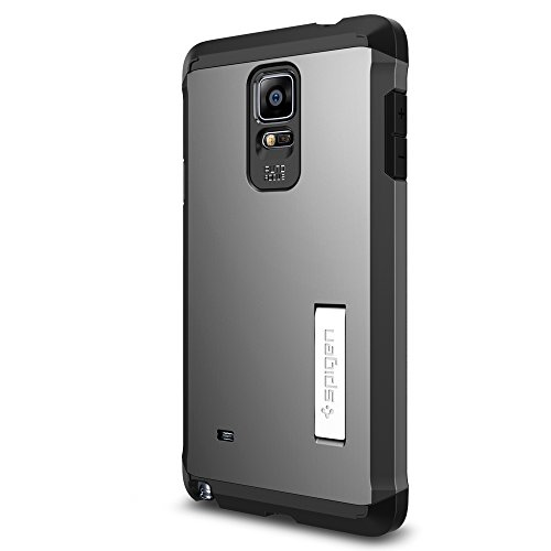 Spigen Tough Armor Galaxy Note 4 Case with Extreme Heavy Duty Protection and Air Cushion Technology for Samsung Galaxy Note 4 2014 - Gunmetal (Note 3 Case Spigen compare prices)
