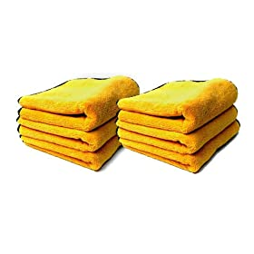 Chemical Guys MIC50612 Professional Grade Premium Microfiber Towels, Gold - 16 in. x 16 in. (Pack of 12)