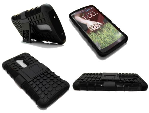 Cell-Nerds Nerdshield Armor Case Cover With Built-In Kickstand For The Lg Optimus G2 (Sprint, Verizon, T-Mobile, Bell, At&T, Telus And Rogers) Cell-Nerds® Packaging (Black)