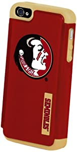 Forever Collectibles NCAA Dual Hybrid iPhone 4/4S Rugged Case - Retail Packaging - Florida St Seminoles