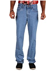 U.S. Rugby Light Blue Rinsed Not Stretchable Denim Regular Fit Men's Jeans