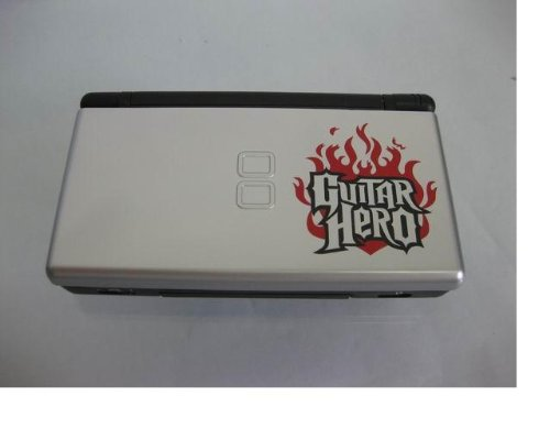 Nintendo Ds Lite White Guitar Hero + 7 Games Included