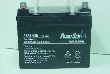 Powerstar 12V 33AH Group U1 Deep Cycle Sealed Battery