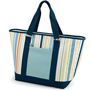 Multi colored and insulated beach cooler tote