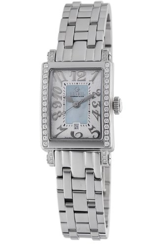 Gevril Women's 8247NEB Super Mini Quartz Blue Mother of Pearl Diamond Watch