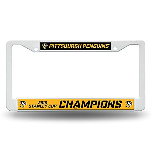NHL Pittsburgh Penguins 2016 Stanley Cup Champions Plastic Plate Frame
