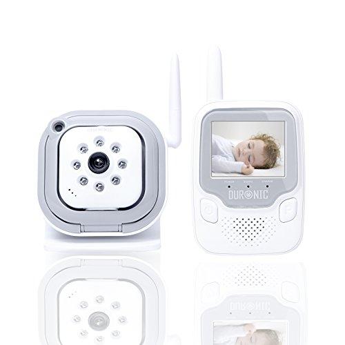 Duronic B101W - Baby monitor wireless 2.4GHz display full color, con rilevamento suoni e visione notturna. colore Bianco