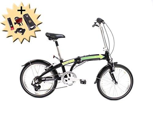 20' Zoll Alu Klapp Rad Falt Fahrrad Folding Bike SHIMANO 7...