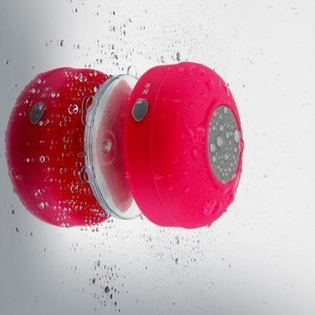 Mobbysol™ Portable Bluetooth Speaker With Suction Subwoofer Shower Waterproof Wireless Handsfree (Pink)