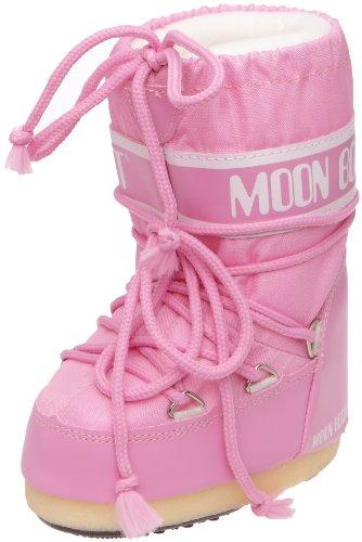 Tecnica MOON BOOT NYLON  140044, Unisex-Kinder Schneestiefel, Pink (Pink 63), EU 31