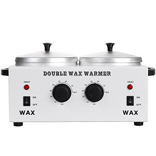 DOUBLE Wax Warmer Professional Electric Heater Dual Parrafin Hot Facial Skin Equipment SPA Adjustable Temperature Set